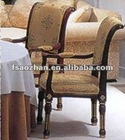 elegant classic AZ-0133 upholstered dining chairs with arms