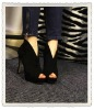 2012 New Designed V Mouth Sexy High Heel Shoes (HHS-0139)