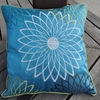 100% polyester polysilk embroidery cushion cover