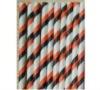 Stripe Black/Orange Paper Party Straws Orange Black White Striped Paper Straws