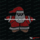 [A5061] Christmas Snowman Rhinestone Design Iron on Transfer