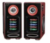 2.0 audio speaker professional active speaker wooden box karaoke speaker home theater system with usb,sd,fm,amplifier(HYL-02)