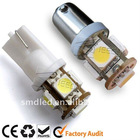 DC12V 5SMD tower type T10 Wedge Light LED Bulbs