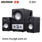 Baking Varnish Finish,Bright and Eye-catching 2.1 Channel Black Speaker System