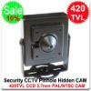 Surveillance Security CCTV Sharp ccd, 420tvl color mini hidden pinhole camera