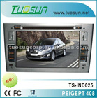 touch screen dvd player for Peugeot 408 with 7-inch HD TFT Digital Screen supports bluetooth function