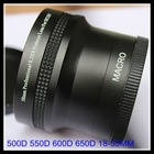 55mm 0.25x fish eye lens for Sony 18-55mm 18-70mm 55-200mm