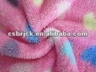 240gsm printed velboa plush fabric