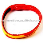 Artificial silicone rubber bracelets