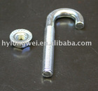 J bolt with nut,hook bolt