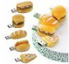 Silicon hamburger usb drive ,bread usb flash memory ,cute memory stick usb 2gb