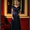 Comfortable Short Sleeve Satin Long Pregnant Women Dresses HS1042