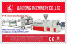 Plastic panel production line