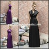BMD152 Unique Collar Sleeveless Empire Sash A-Line Floor-Length Affordable Bridesmaid Dress