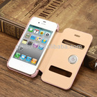 Jisoncase leather case for iphone4/4s cases