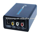 High quality HDMI to Composite and S-Video Converter composite to hdmi converter 1080p HS-CO1015