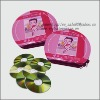 lovely pink CD tin case with zipper