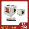 3.5'' Screen protable mp3/mp4/mp5 player speaker with remote(XBOX-308)