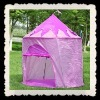 Outdoor kids play pink tent house