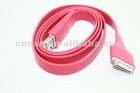 New USB Colorful noodle data and charger cable for Iphone 4G/4GS/Ipad 2/etc
