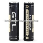 GTL ICR18650 3.7V Rechargeable Li-ion Battery (2-pack, 2800mAh)