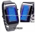 72 LED Blue Light All Metal Lady's Wrist Watch