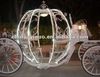 high quality and exquisite european style pumpkin horse carriage with LED lights /wedding supplies