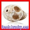 17*18mm Beige Turquoise shamballa Skull Charm Jewelry bracelets parts