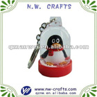 photo inside mini snow globe key chains