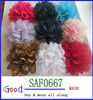 chiffon wrinkle fabric with net fabric hand made flower 9 colors