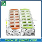 hot selling FDA custom rectangle silicone ice cube tray