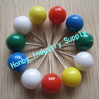 10x20mm Solid Color Round Map Pin