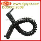 Black Plastic PU Coil Cord