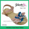 Cute & exquisite baby shoe with lovely flower upper