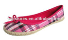 fashion jute flat shoes in good quality
