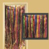 MULTI-COLOR METALLIC FRINGED DOOR CURTAIN