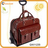 top leather travel bag with zipper pocket