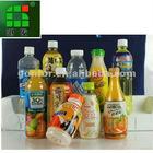 PVC Juice bottle labels