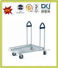Zinc steel tube XYT-023C flat logistic cargo trolley