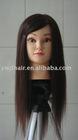 top quality 100% human hair mannequin head with real human hair/best quality training head with human hair