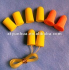 Slow Rebound PU Foam Earplug With Cord/SNR 33dB NRR 31dB