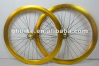 700C aluminium paint anodized colorfuly deep V fixed gear bike rim wheelsets