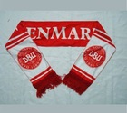 Sublimation printing soccer fans knitted scarf Barcelona Real Madrid Arsenal
