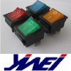 IRS-201-1C different colors rocker DPST O I mark 4 brass terminals lighted rocker switch