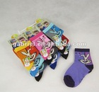 307 bunny style young girls socks boys color socks wholesale , cartoon style socks