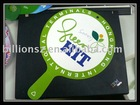 Supply: Good quality offset print PP plastic Fan wiht handle