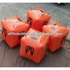 inflatable floating cube buoys anchor for water triathlons events