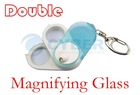 Double Magnifying Glass with LED Light