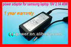 NEW ARRIVAL laptop ac adapter 19v 2.1a for samsung mini laptop