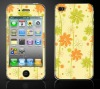colorful front and back sticker for iPhone 4